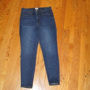 """J.CREW 10"""" HIGH-RISE TOOTHPICK JEANS 32 12/14 ANKL"""